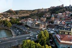 Tbilisi Gruzja turystyki piękny Stary Grodzki zwiedzać fotografia royalty free