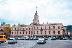 Tbilisi, Gruzja 13 04 2018 - Urząd Miasta na swoboda kwadracie wewnątrz wewnątrz Fotografia Royalty Free