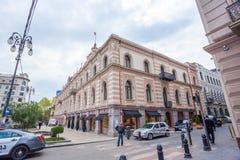 Tbilisi, Gruzja 13 04 2018 - Urząd Miasta na swoboda kwadracie wewnątrz wewnątrz Obrazy Royalty Free