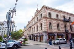 Tbilisi, Gruzja 13 04 2018 - Urząd Miasta na swoboda kwadracie wewnątrz wewnątrz Zdjęcie Stock
