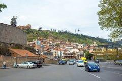 13 04 2018 Tbilisi, Gruzja - widok Tbilisi, kapitał Georgi zdjęcia stock