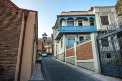 Tbilisi. The hilly street leads to the Jumah Mosque in Abanotuba Royalty Free Stock Photography