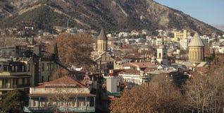 Tbilisi huvudstaden av Georgia Royaltyfri Fotografi