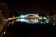 Tbilisi i natt Fotografering för Bildbyråer