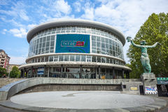 Tbilisi konserthall i Tbilisi, huvudstaden av Georgia Arkivbild
