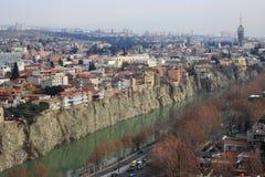 Tbilisi and Kura River Royalty Free Stock Photo