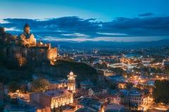 Tbilisi, la Géorgie Église de ` antique de forteresse et de Saint-Nicolas de Narikala Images libres de droits