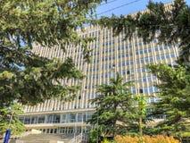 TBILISI, LA GÉORGIE - - 17 MAI 2018 : Vue du bâtiment d'Ivane Javakhishvili Tbilisi State University Printemps dans la ville Image libre de droits
