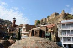Tbilisi landmarks - medieval sulphur bathes,mosque,Georgia Royalty Free Stock Photos