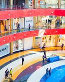 Tbilisi mall interior, Georgian republic. TBILISI, GEORGIA - MAY 05, 2015: Tbilisi Mall - largest shopping mall in the Southern Caucasus. The Mall occupies a stock photo