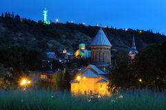 Tbilisi nachts Stockbild