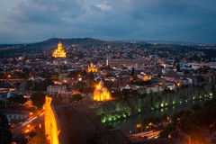 Tbilisi at night Stock Images