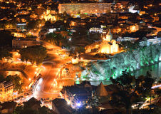 Tbilisi at night Royalty Free Stock Photo