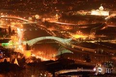 Tbilisi night cityscape Stock Photo