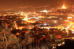 Tbilisi night cityscape Stock Photography