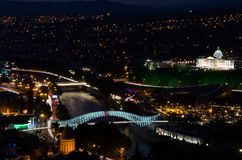 Tbilisi by night 2. Georgian capital city by night Royalty Free Stock Photos