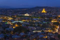 Tbilisi night scene Royalty Free Stock Photo