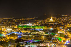 Tbilisi at night Royalty Free Stock Photos