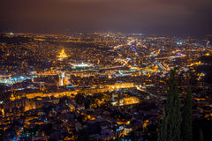 Tbilisi by night Royalty Free Stock Image