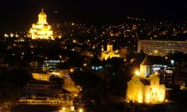 Tbilisi night view Royalty Free Stock Photography