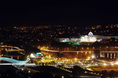 Tbilisi night view Stock Images