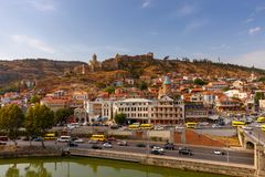 Tbilisi. Old city. View of the old town on a sunny day. Tbilisi. Georgia Royalty Free Stock Image