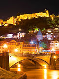 Tbilisi Old Town at night Royalty Free Stock Images