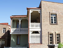 Tbilisi, Old town. Traditional balconies and houses Royalty Free Stock Photos