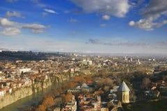 Tbilisi, opinión de la ciudad Imagenes de archivo