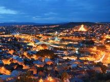 Tbilisi på natten Arkivbild