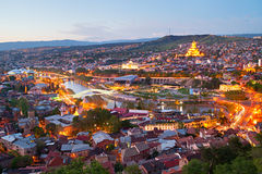 Tbilisi panorama, Georgia Royalty Free Stock Photography