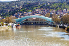 Tbilisi peace bridge Royalty Free Stock Photography