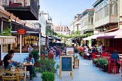 Tbilisi plenerowa restauracja Fotografia Stock