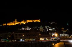Tbilisi 's nachts 3 Stock Afbeelding