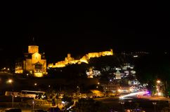 Tbilisi 's nachts 4 Stock Fotografie
