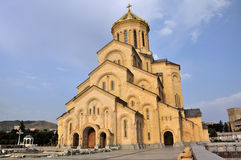 Tbilisi Sameba Cathedral. The Tbilisi Holy Trinity Cathedral commonly known as Sameba is the main Georgian Orthodox Christian cathedral, located in Tbilisi, the Royalty Free Stock Photos