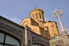 Tbilisi Sameba Cathedral Stock Photography