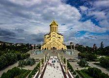 Tbilisi Sameba Orthodox Christian Cathedral royalty-vrije stock foto