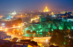 Tbilisi skyline Royalty Free Stock Photography