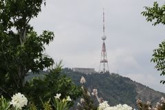 Tbilisi TV Broadcasting Tower in Georgia stock images