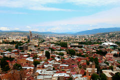Tbilisi from the top Stock Image