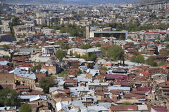 Tbilisi From The Top View Royalty Free Stock Photography