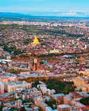 Tbilisi top view, Georgia Stock Photography