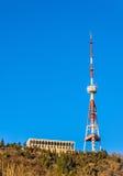 Tbilisi TV tower on Mount Mtatsminda Royalty Free Stock Images