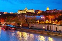 Tbilisi at twilight, Georgia Royalty Free Stock Photography