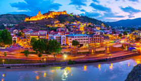 Tbilisi in twilights Royalty Free Stock Image
