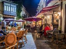 Tbilisi vid natt Arkivfoto
