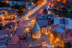 Tbilisi. View of the city at night. Stock Photos