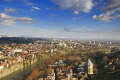 Tbilisi widok miasta Obrazy Stock