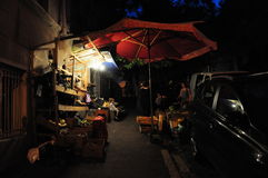Tblisi alla notte Fotografia Stock
